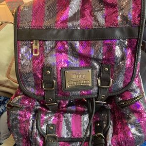 Sequin Juicy Couture Back pack